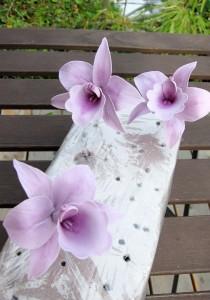 Tortendekorationskurs Workshop Orchideen Lila Frau Paulus Tortendrang Kaiserslautern