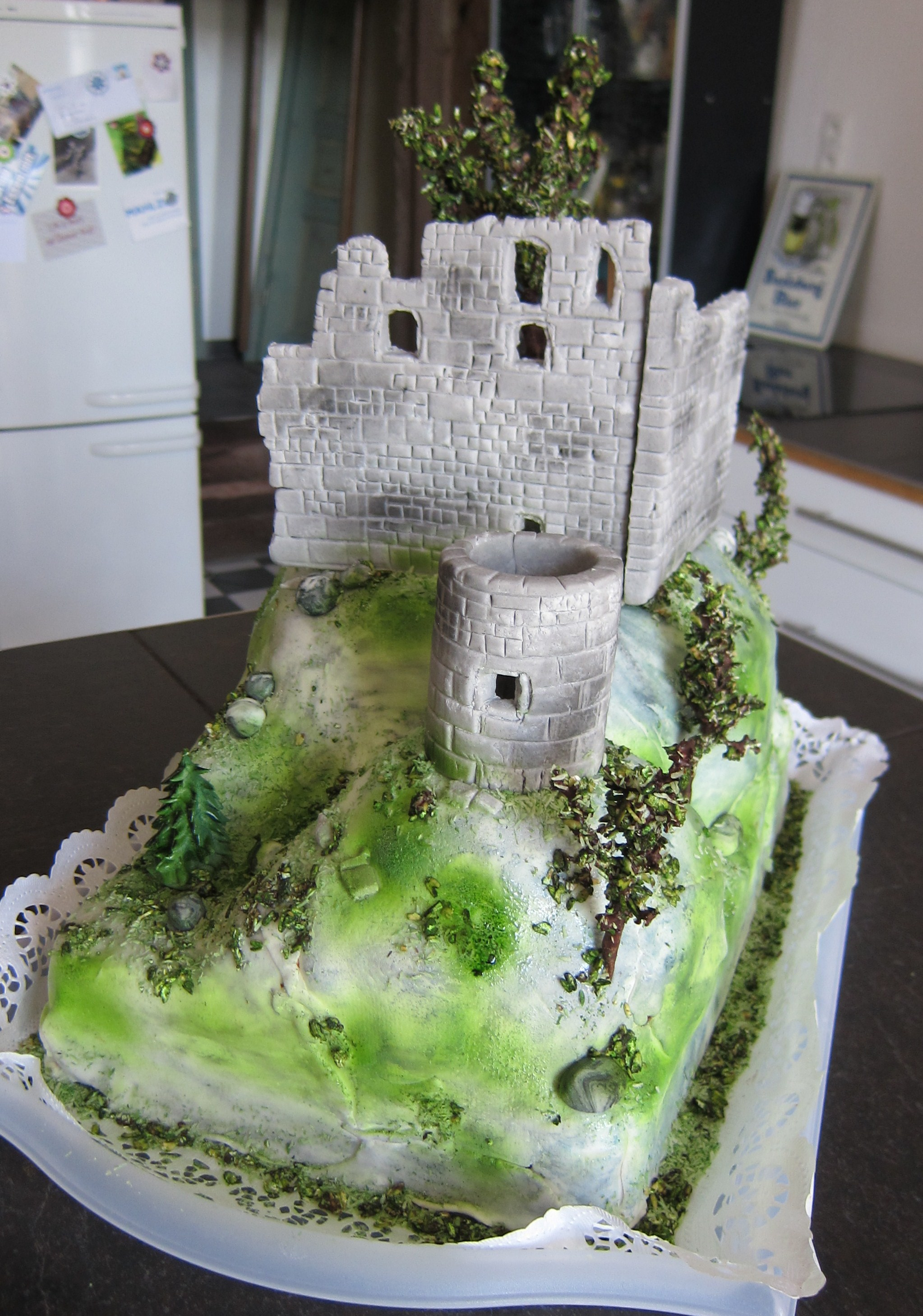 Eine Burg Torte Frau Paulus Tortendrang
