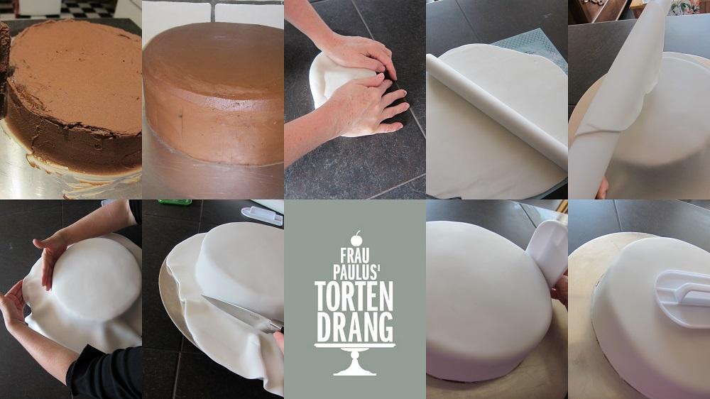 grundtechniken 1 teil anleitung torte mit fondant eindecken frau paulus tortendrang. Black Bedroom Furniture Sets. Home Design Ideas