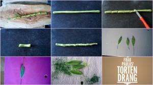 Anleitung für Tortendekoration Bambus