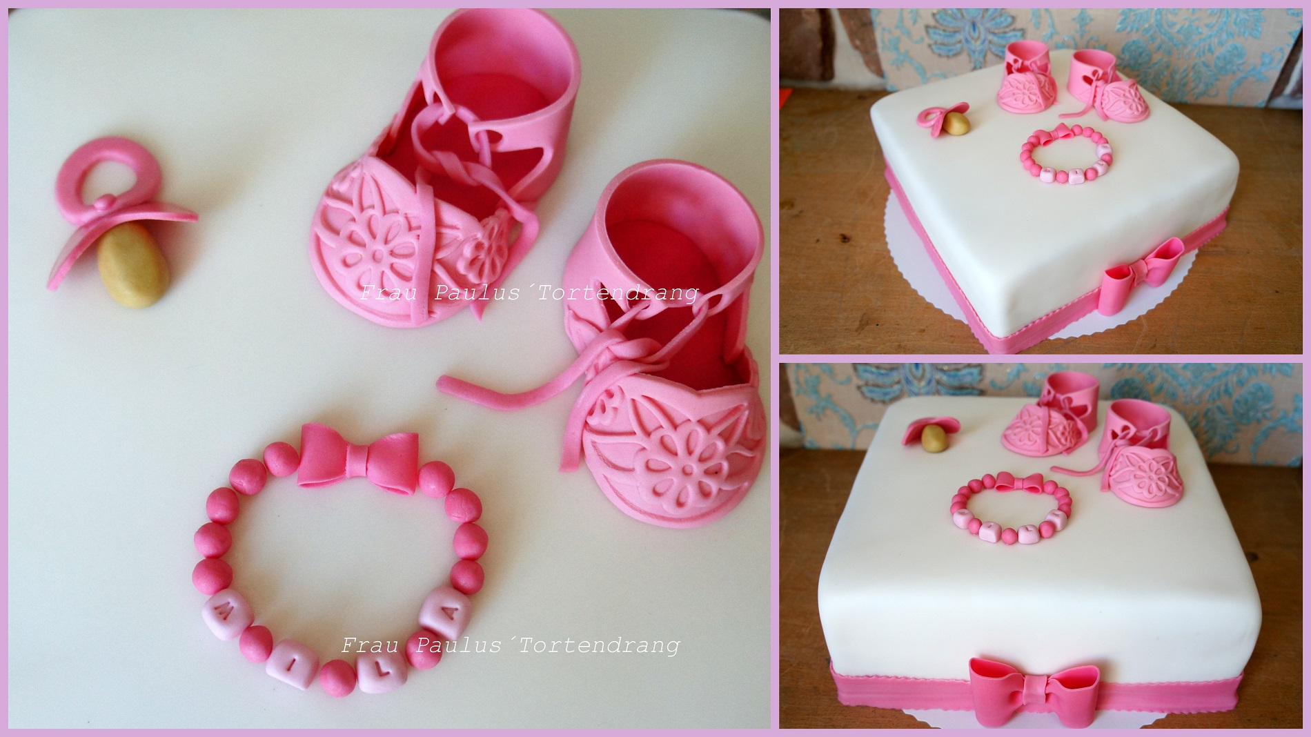 Cake Decoration Baby Shoes