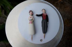 Tortendekoration Hochzeitspaar