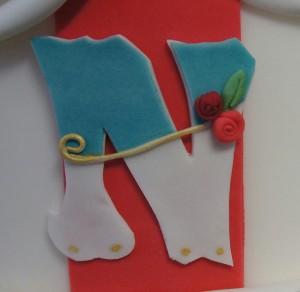 Buchstaben auf Torte