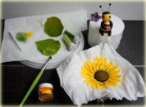 Tortendeko Biene und Sonnenblume