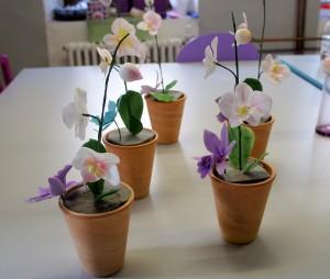 Torendekorationskurs Orchideen