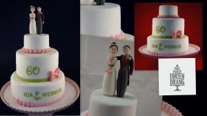 Hochzeitstorte Kaiserslautern Landstuhl Pirmasens Homburg Zweibrücken Kusel Tortendekorationskurse Torten Brautpaar Lischetti HP