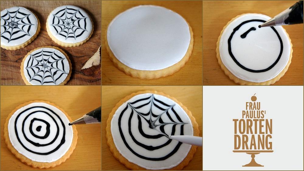 DIY Anleitung Spinnenkekse Spidercookies Tutorial