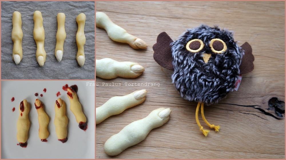 Kekse Fingerfood Blutige Finger Plätzchen Rezept Anleitung