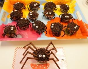 Spinnen Cupcakes Halloween