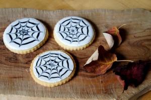 Spinnen-Kekse Spidercookies