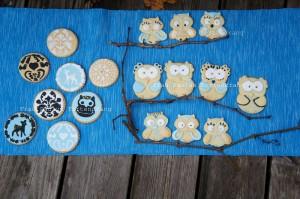 Plätzchen Cookies Herbst Eule Reh
