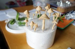 Tortendekoration Pilze