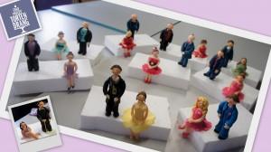 Ergebnisse des Tortendekorationskurses: Figuren aus Modellierfondant