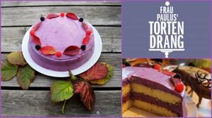 Torte Heidelbee-Käse-Sahne Torte Kaiserslautern Landtsuhl Pirmasens Tortendekokorationskurse HP