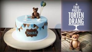 Tauftorte Bär Cake bear russischer Winnie Pooh Fondant Tortendekorationskurs Kaiserslautern Landstuhl Pirmasens Zweibrücken.
