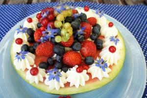 Wassermelonen- Torte Rezept Tortendekokurs Fondant Kaiserslautern Landstuhl Pirmasens Zweibrücken