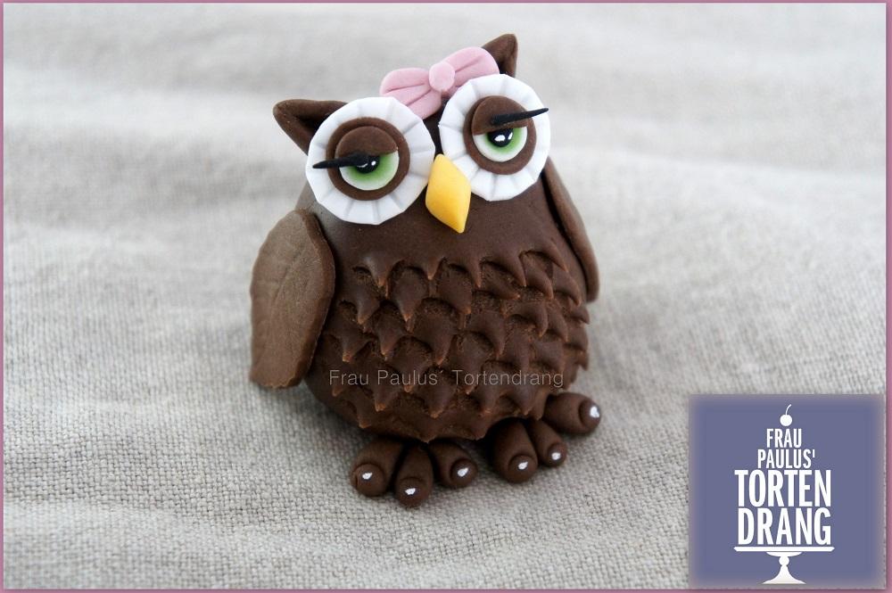 Anleitung Eule Aus Modellier Fondant Tutorial Owl Gumpaste Frau