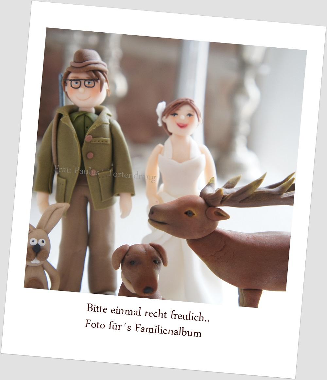 Jager Hochzeit Figuren Waldtiere Aus Modellierfondant Frau