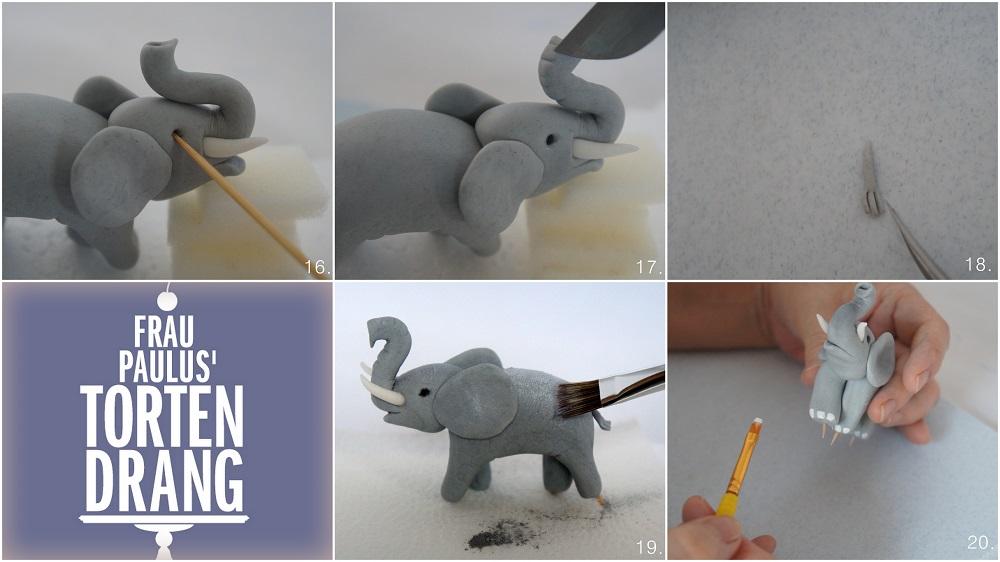 elefant aus modellierfondant anleitung tutorial elephant gumpaste frau paulus tortendrang. Black Bedroom Furniture Sets. Home Design Ideas