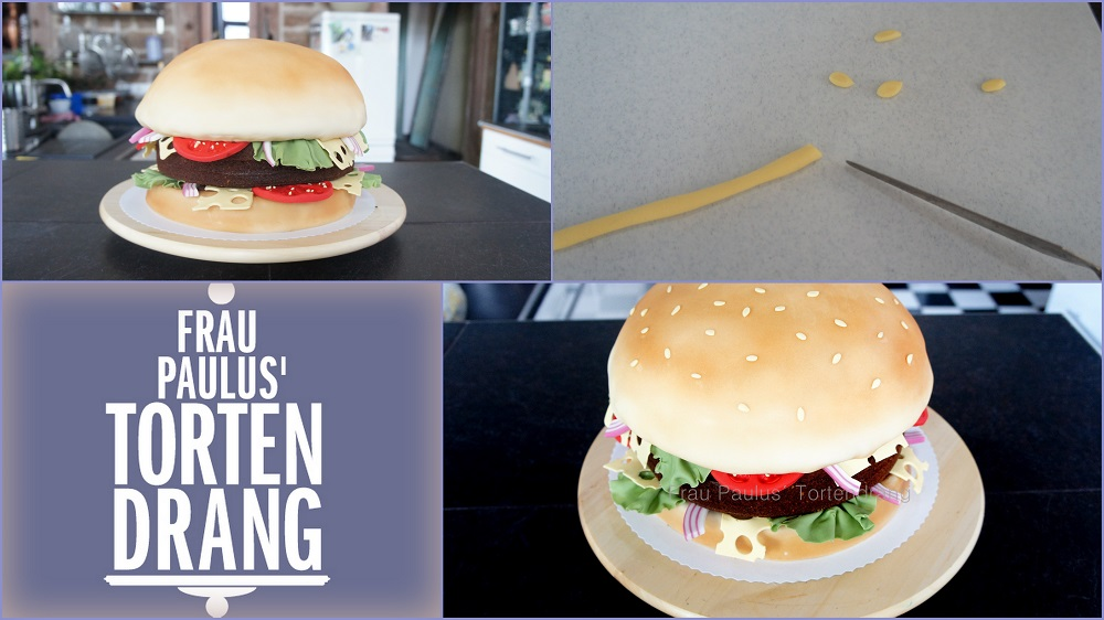 hamburger torte mit anleitung hamburger cake tutorial frau paulus tortendrang. Black Bedroom Furniture Sets. Home Design Ideas
