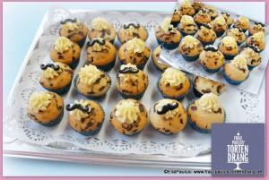 Mini-Muffin Schnurrbart