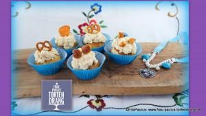 Oktoberfest Cupcakes Laugenbrötchen