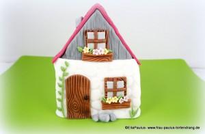 Torte mit Haus Tortendekorationskurse Fondant Motivtorten kaiserslautern Landstuhl Pirmasens Homburg Zweibrücken