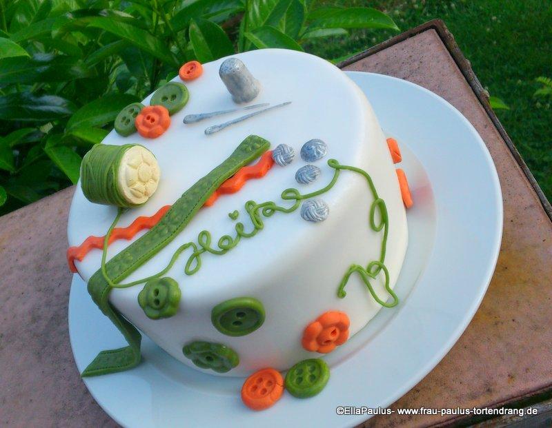 stück torte gemalt