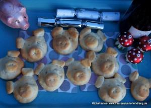 Rezept für herzhafte Glücksschweinchen aus Qark-Öl-Teig