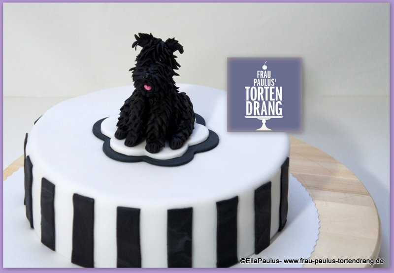 torte mit hund anleitung riesen schnauzer dog cake giant schnauzer tutorial frau paulus. Black Bedroom Furniture Sets. Home Design Ideas