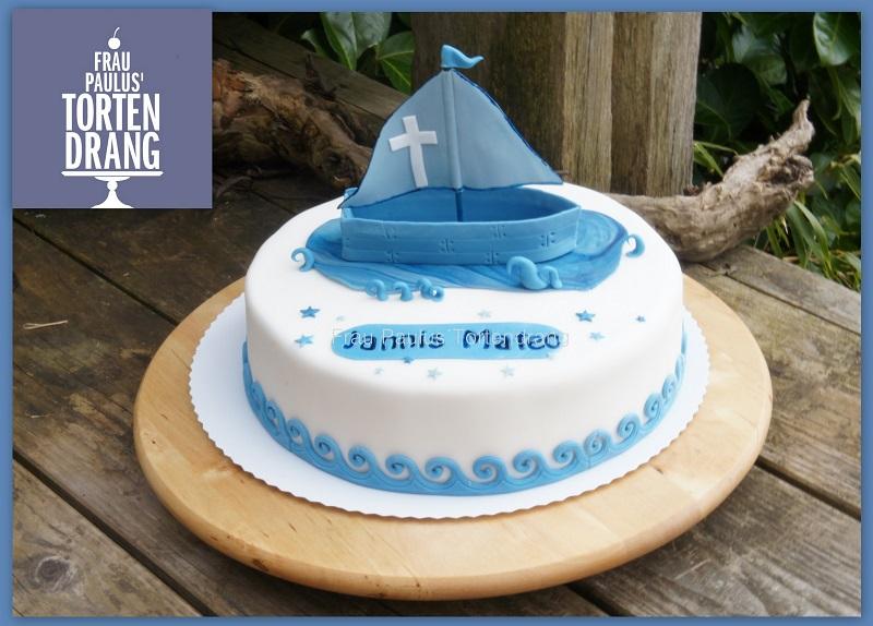 Briefumschlag Beschriften Zur Taufe : Torte mit boot zur taufe eines jungen frau paulus