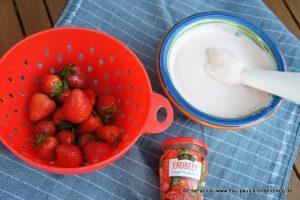 Erdbeer-Frosting Füllung Erdbeerkuchen rezept