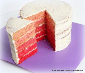 Ombre-cake-pink-Backkurs-Saarbrücken-Kaiserslautern-Fondant