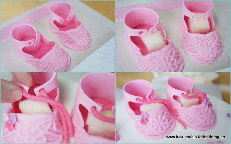 Babyschuhe aus Fondant ♥ Tutorial Babyschuhe aus Zucker für Mädchen ...