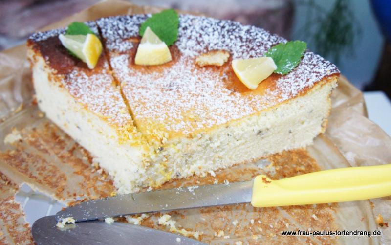 Zitronen Kasekuchen Rezept Sommerlich Frisch Mit Zitronenmelisse