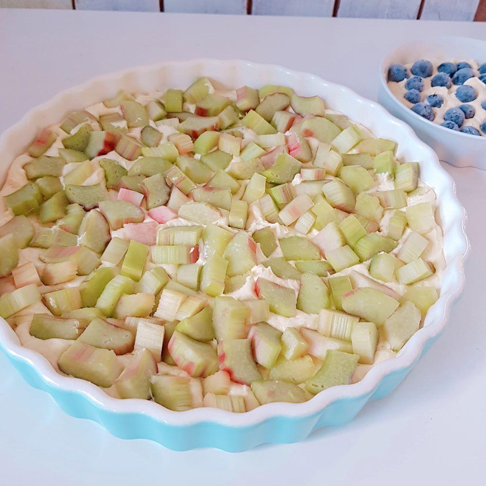 Rezept für köstlichen Rhabarberkuche